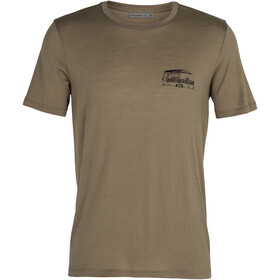 Icebreaker Tech Lite SS Crew Shirt The Good Life Men, flint